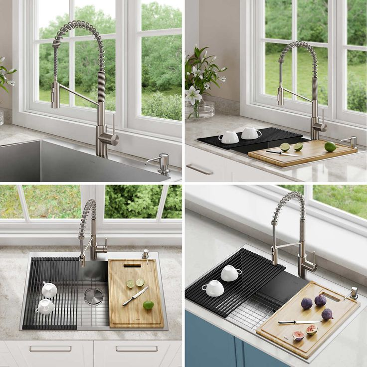 Kraus Thick Deck Kitchen Sink and Faucet with Accessories