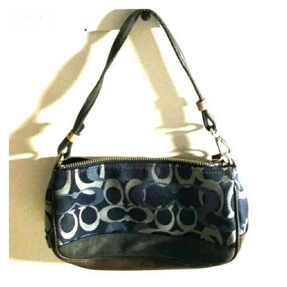 AUTHENTIC MINI JEANS COACH  BAG. ⭐⭐⭐⭐100% authentic coach mini bag has a small stain on the back of the bag,  otherwise in great condition.look at pictures for additional info.. Coach Bags Mini Bags