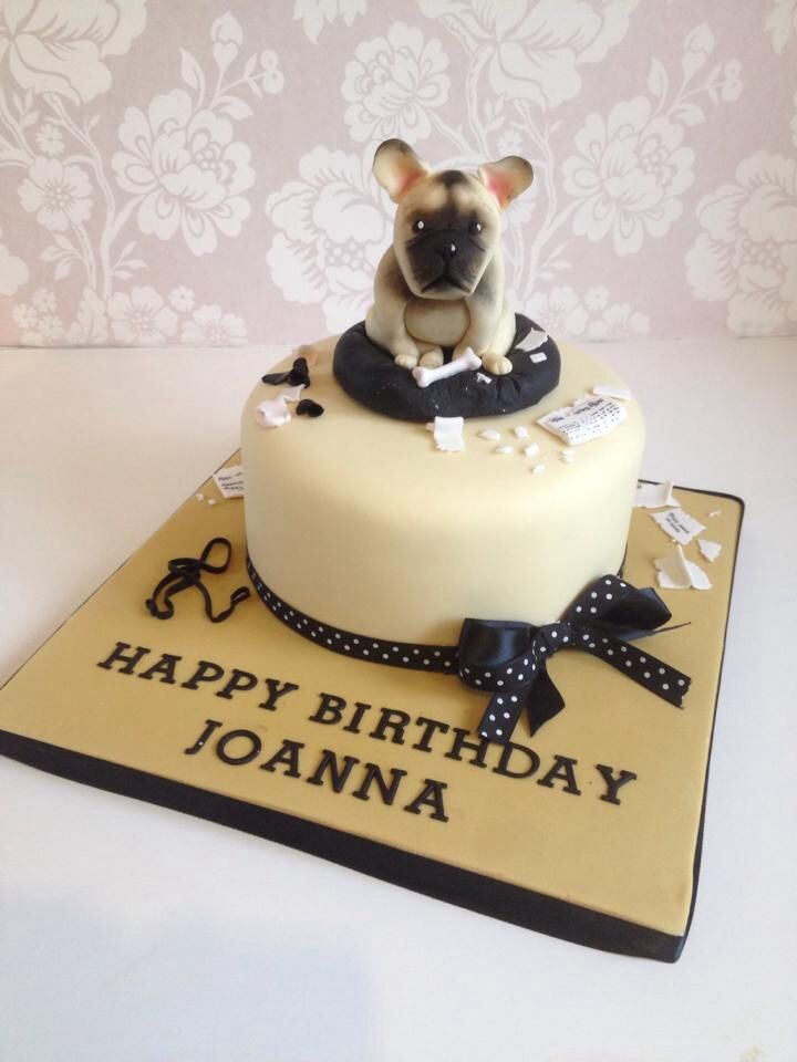 French bulldog cake by www.keenforcakes.co.uk