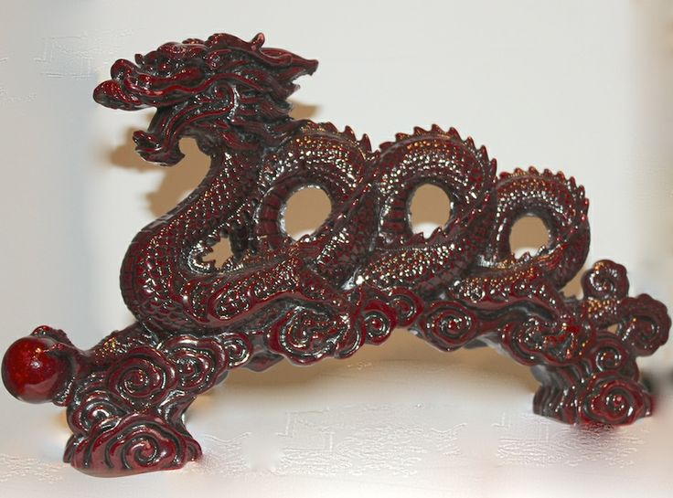 """Oriental Rosewood Dragon - over 12"""" long #OD-9800"""