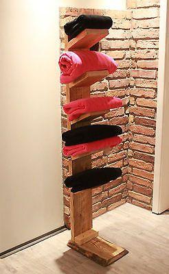 Handtuchleiter aus Massivholz Handtuchhalter Bad Regal Handtuch Halter stehend