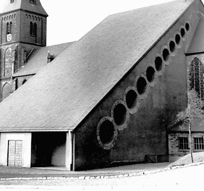 Gottfried Böhm, Extention of the Catholic Church , Püttlingen, Germany 1952-54