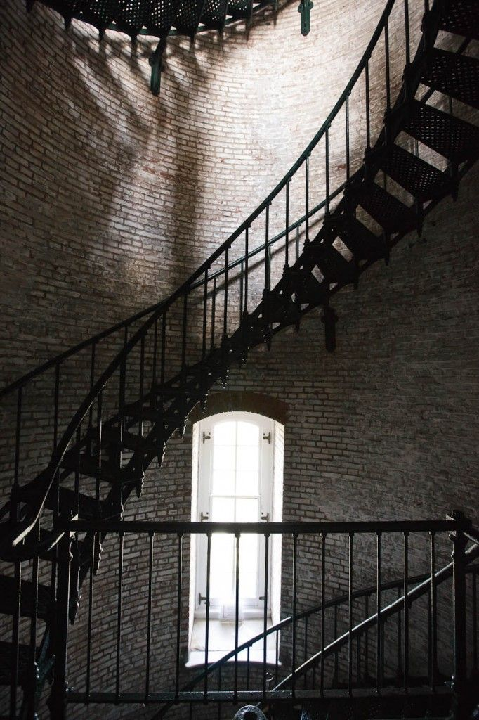 Inside The Currituck Lighthouse in Corrolla, NC