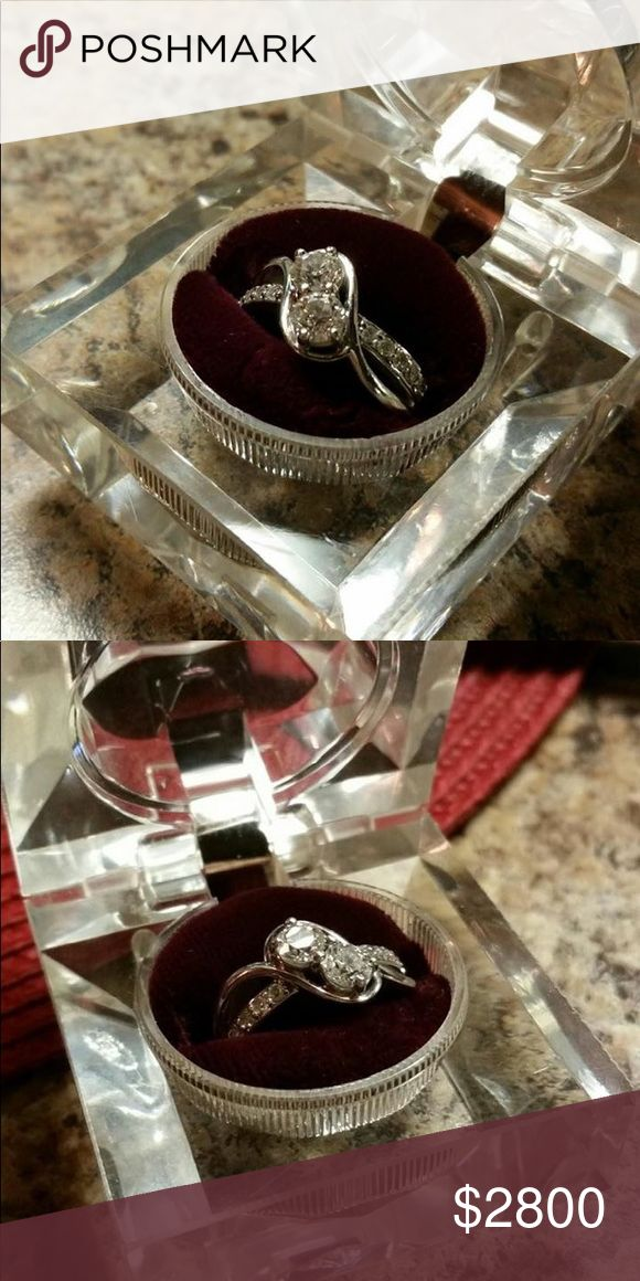 1 karat diamond ring Only worn for 2-3 weeks! Like New! Make me an offer I can't refuse!! I also have the papers for it, and it is and can be insured! Jewelry Rings