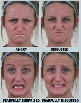 It's been widely considered humans have six distinct facial expressions, but new research claims this figure is 21, including 'surprised' pi...