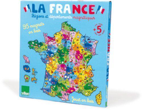 Vilac - 2582 - Jeux et Jouets en Bois - Carte de la France magnétique (95 pièces) Vilac http://www.amazon.fr/dp/B000TSOKTK/ref=cm_sw_r_pi_dp_akX9ub0A3QPEV