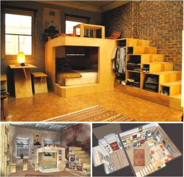 Very Small Studio Apartment: 109 Best Raised Floor Storage Images On Pinterest