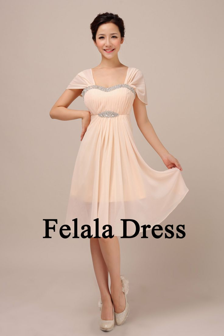 Maybe? Not sure? Bridesmaid dress short  blush evening dress / short by FelalaDress, $89.00 #Wedding #bridesmaid #dress