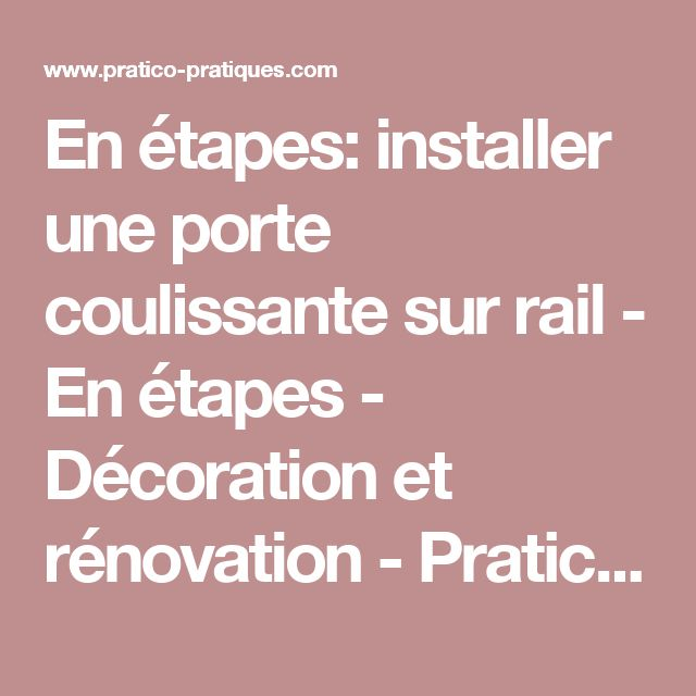 25 installer porte - Rail porte coulissante industrielle ...