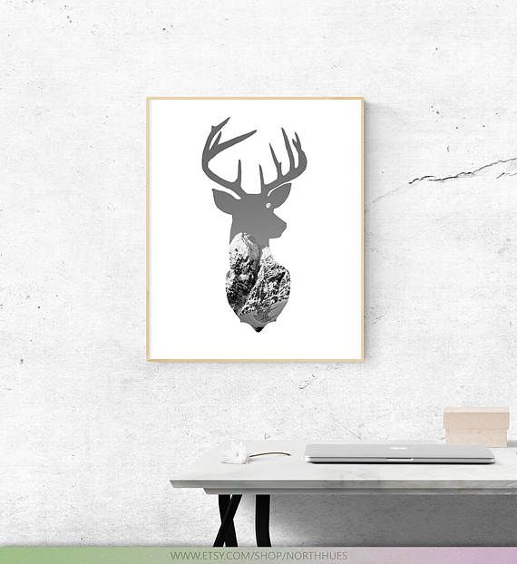 Deer Wall Art. Photo Edit  Digital Download