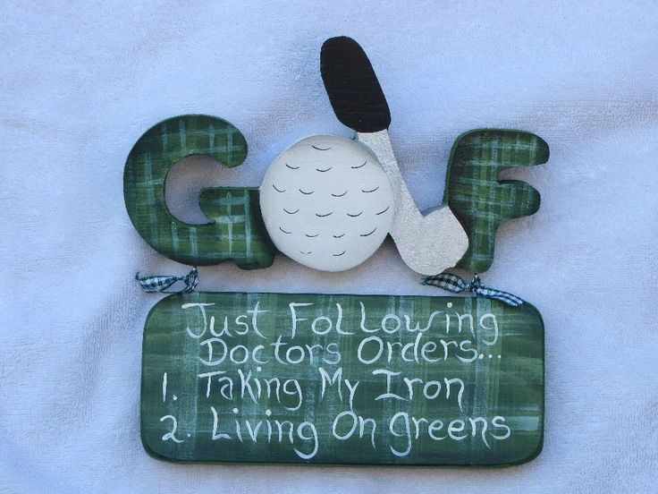 WHIMSICAL GOLF SIGNS by woodenwhimsie on Etsy                                                                                                                                                                                 More