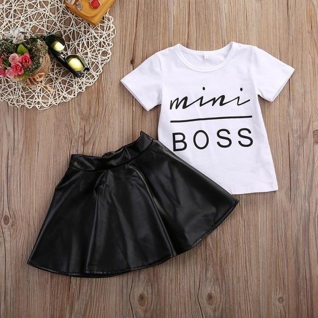 Short skirts Summer Clothes Set 2pcs Toddler Infant Girls Outfits shirt tops