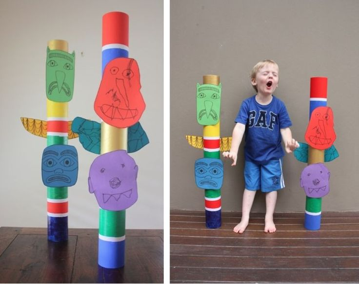 Only best 25+ ideas about Totem Pole Craft on Pinterest | Totem ...