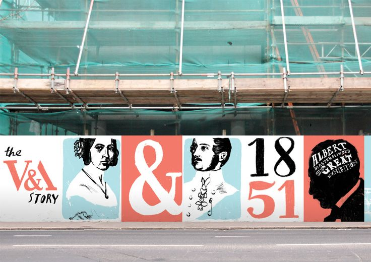 A student brief to design a 70 metre long hoarding around the V's new Exhibition…