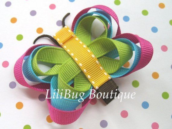 LiliBug M2MG JUNGLE GEM Butterfly Hair Clip by LiliBugBoutique, $6.50