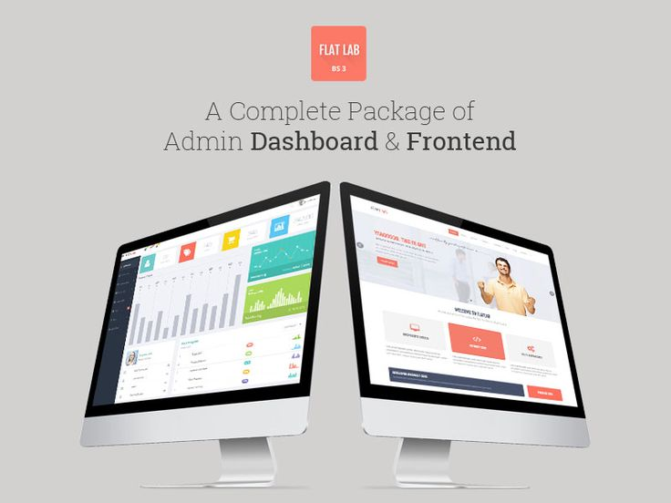 Flat Lab responsive admin dashboard and frontend Live Preview : http://themeforest.net/item/flatlab-flat-responsive-admin-template/5902687