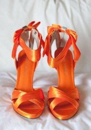 Orange-Heels wedding shoes
