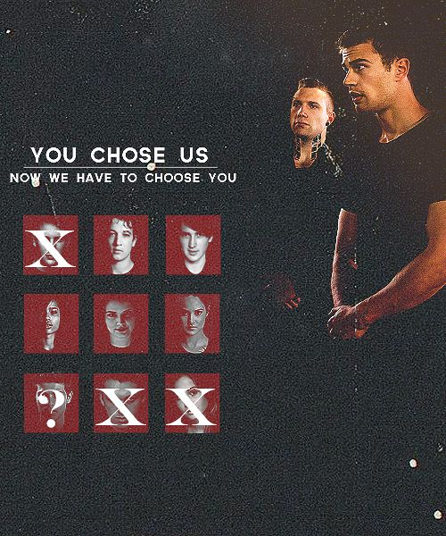 Now we have to choose you.