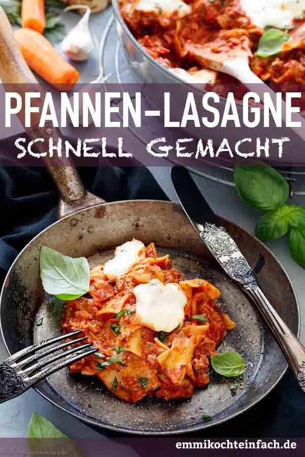 Schnelle Pfannen Lasagne mit Trick-Béchamel