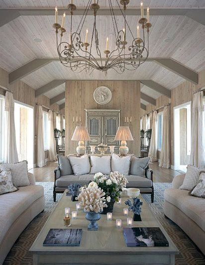 wow: Interior Design, Decor, Ideas, Chandelier, Living Rooms, Beach House, Livingrooms, Color, Family Room