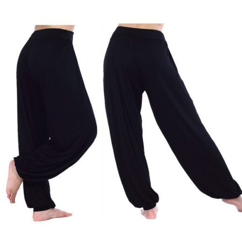Womens-Yoga-Hippie-Harem-Baggy-Trousers-Dance-Long-Genie-Aladdin-Pants-Leggings