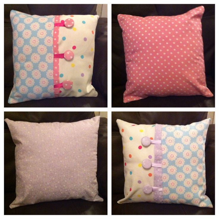 "Both cushions 12x12"" - made other things to match. Using Clarke and Clarke fabric"