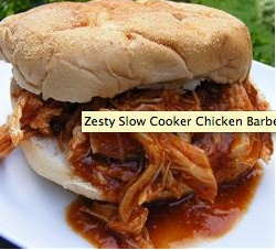 Zesty Slow Cooker Chicken Barbecue | Recipe
