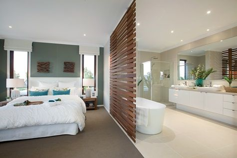 Porter davis homes essex 27 master bedroom wooden partition to ensuite bathrooms pinterest Master bedroom with ensuite