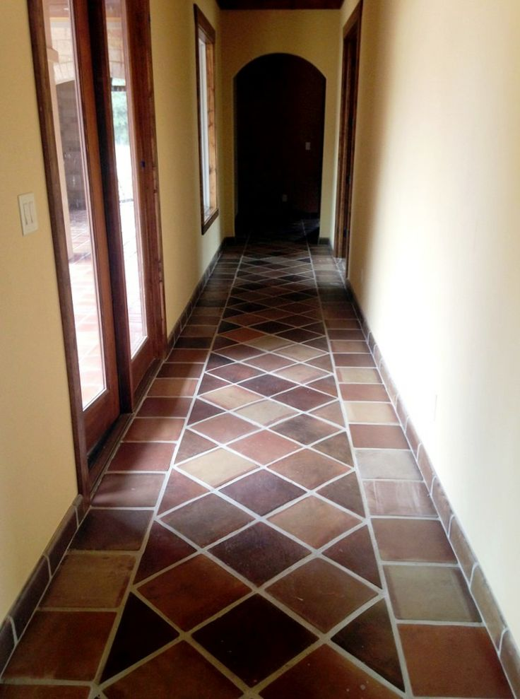 manganese saltillo mexican terra cotta tile by rustico tile and stone terracotta flooring - Terra Cotta Tile Canopy 2015