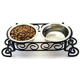 Mediterranean Double diner dog feeder!