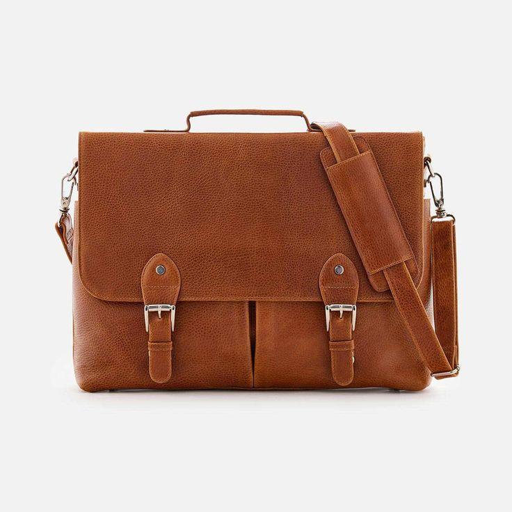 Dalton Satchel - Full grain Leather - Tan