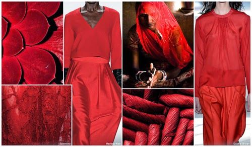 FASHION VIGNETTE: TRENDS // FASHION SNOOPS - FALL/WINTER 2015-16 WOMEN'S COLOR SCARLET