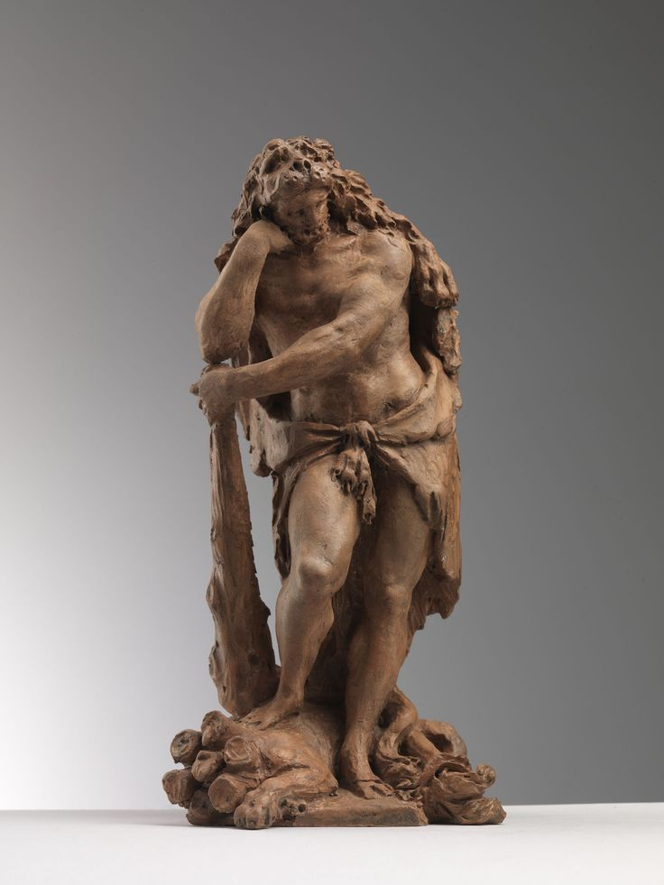 Antonio Trentanove (Rimini, 1742 c.  – Carrara, 1812)  Hercules resting on the  spoils of Hydra  Terracotta, cm. 23 – in. 9