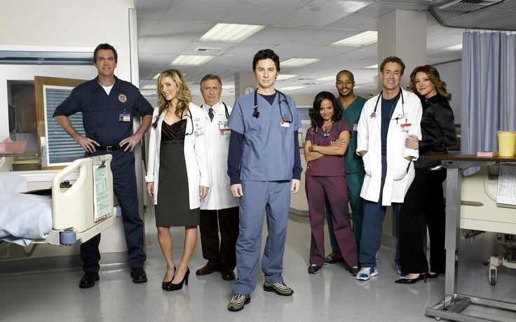 3840x2400 Wallpaper scrubs, tv show, actors, doctors, hospital