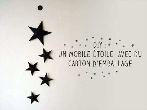 L'atelier de Vekao: DIY : un mobile étoile en carton d'emballage