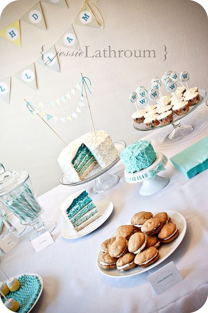First Birthday Party dessert table love the cakes