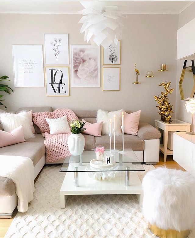 Can we talk about how pretty this living room is?!…