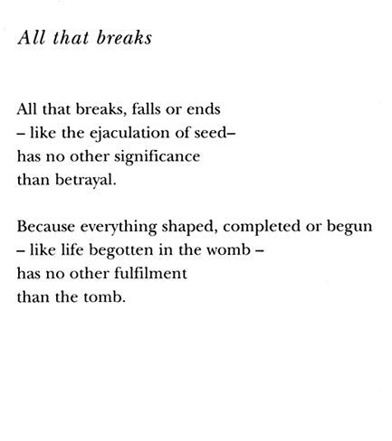 Ingrid Jonker - All that Breaks - translated from the afrikaans by andre brink and antjie krog
