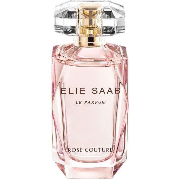 Elie Saab 'Le Parfum Rose Couture' Eau de Toilette found on Polyvore featuring beauty products, fragrance, beauty, perfume, makeup, no color, eau de toilette perfume, elie saab, elie saab perfume and perfume fragrances