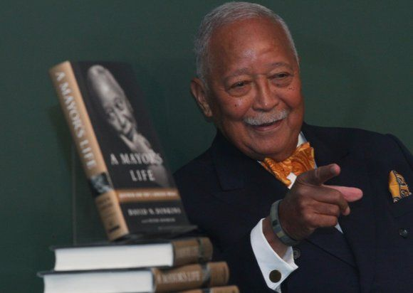 Former New York City Mayor David Dinkins celebrated his 89th birthday at a party at Ellen's Stardust Diner in Times ...
