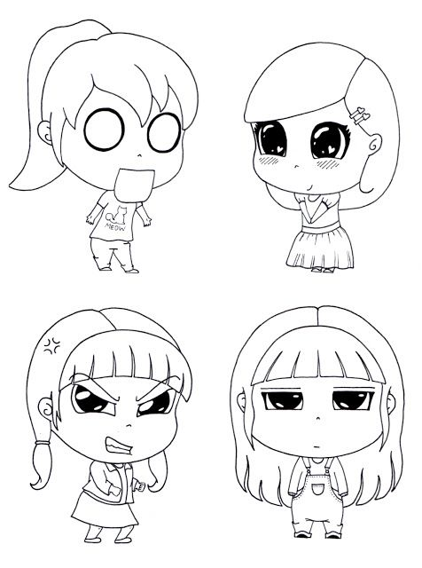 Desenho do Dia #265 a 268 - Meninas parte II - Soraia Casal