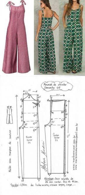 Macacão de alcinha   DIY - molde, corte e costura - Marlene Mukai