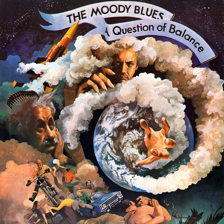 1970 The Moody Blues - A Question Of Balance [Threshold THS3] artwork: Phil Travers #albumcover #illustration