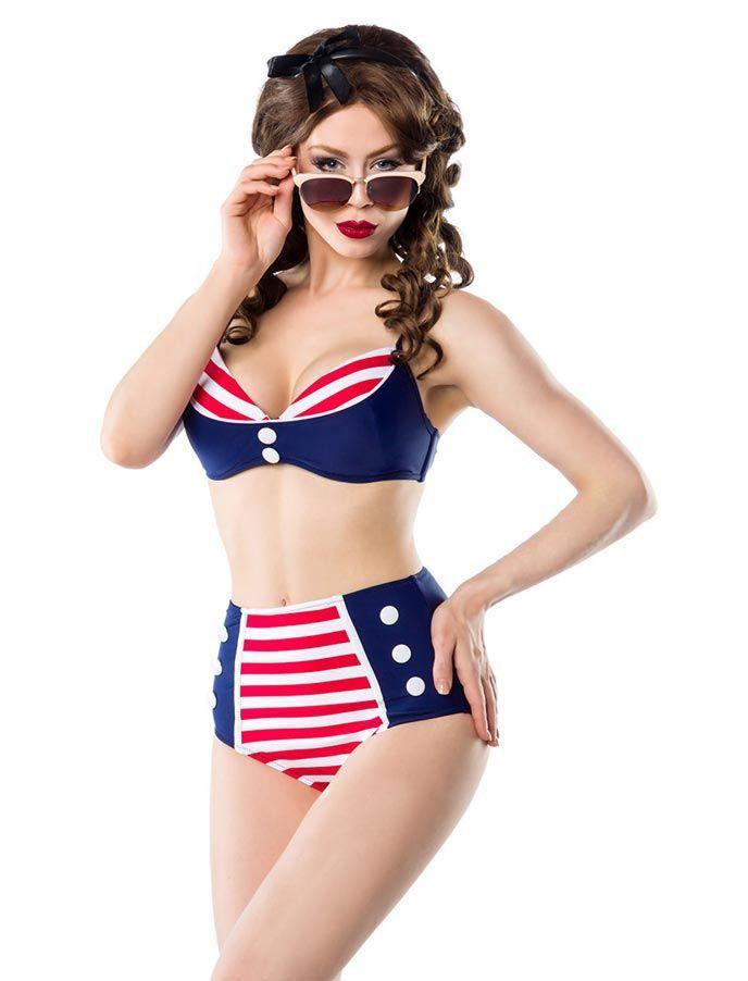 Belsira Vintage Bikini Set - 50er Beachwear - Vintage-Style - Ars-Vivendi