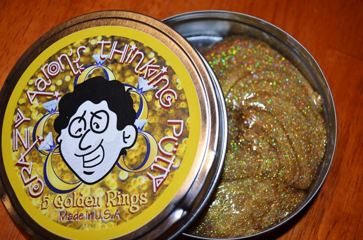 Crazy Aaron's Thinking Putty | Limited Edition Holiday Colors | 5 Golden Rings for Christmas