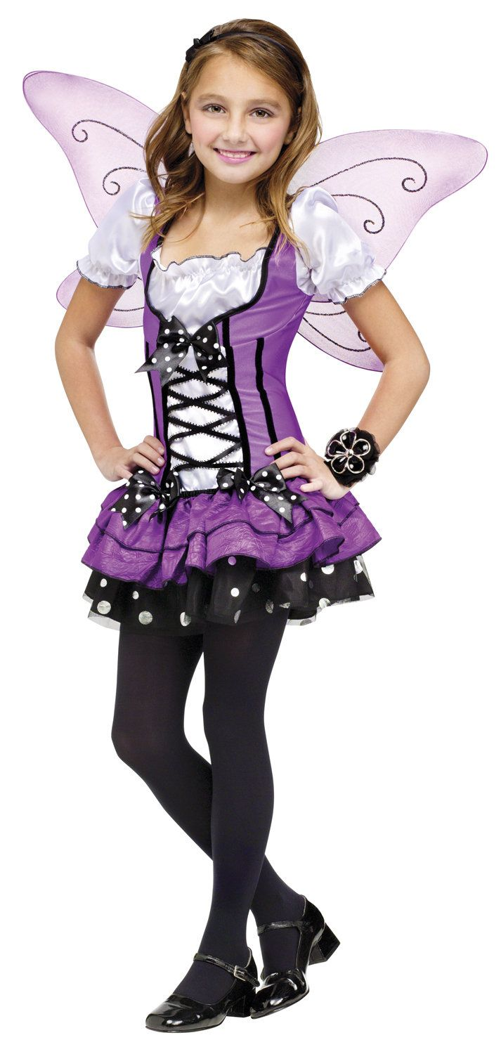 let your little girls imagination run wild in this gorgeous lilac fairy girls costume