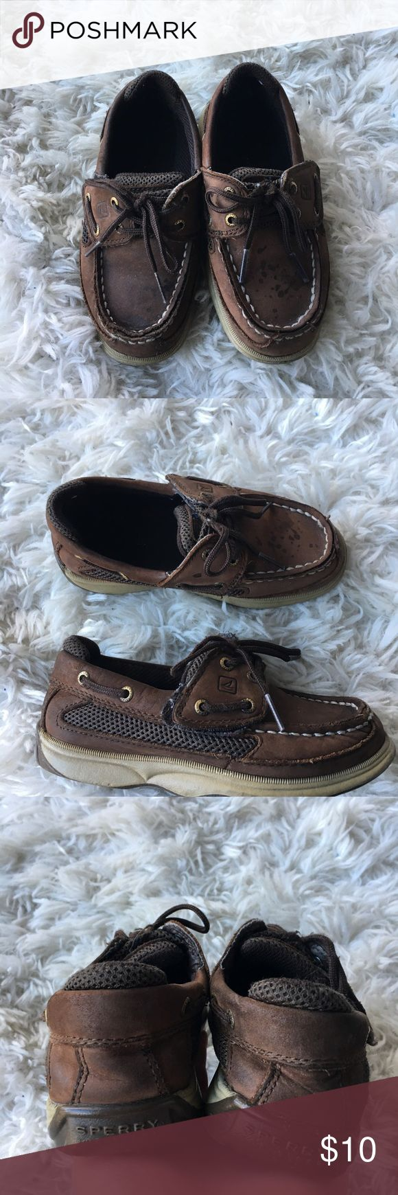 Toddler Sperry Shoes These brown toddler sperrys are in average used condition. They definitely show some wear but have a lot of wear left. They have some spots that would probably come off with a little TLC. Velcro closure for easy on and off. The size is no longer visible, but they're a 10. Save on ✈️SHIPPING✈️and 🎁BUNDLE! I even give a discount on 3 or more regularly priced item bundles. I always accept reasonable offers with the offer button! 🚫❌Lowball offers please! Sperry Top-Sider…