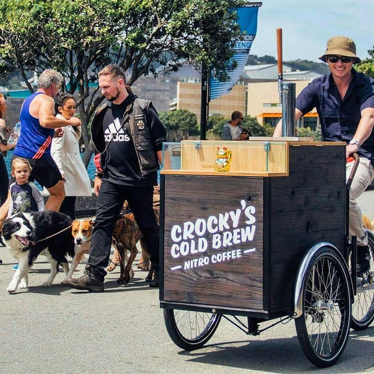 Humans' best friends: dogs coffee and Christiania Bikes By @crockyscoldbrew