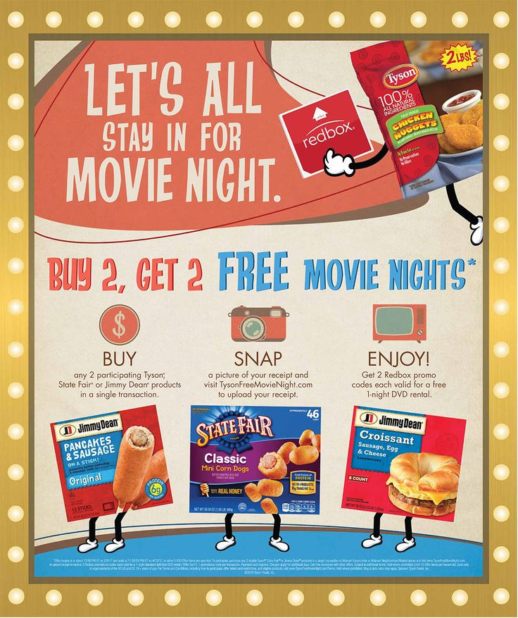 """#ad Need a night to cozy up and watch a movie? Tyson® products """"Winter to Go"""" offer with Redbox at Walmart is making that not only possible, but free! #TysonFreeMovieNight"""