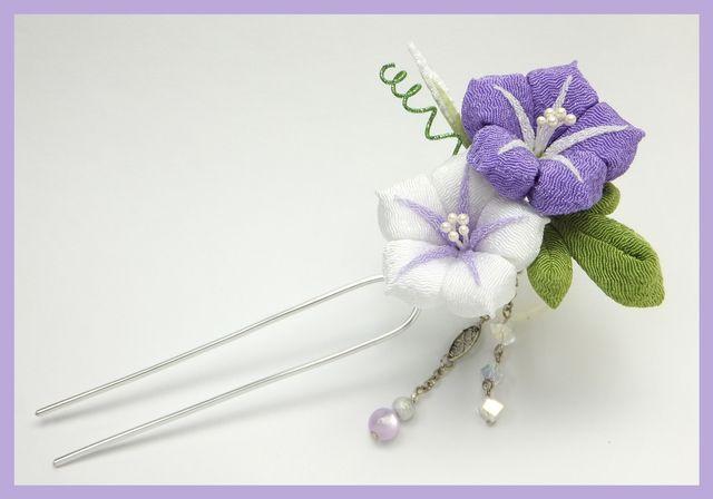 [Ручка созданный] из ипомеи шпильки [фиолетовый]